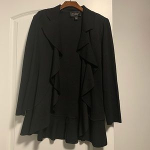 Black St. John Caviar sweater size 6